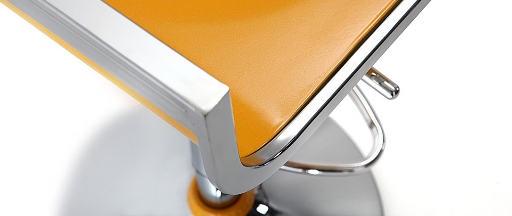 Tabourets de bar design jaunes WAVES (lot de 2)