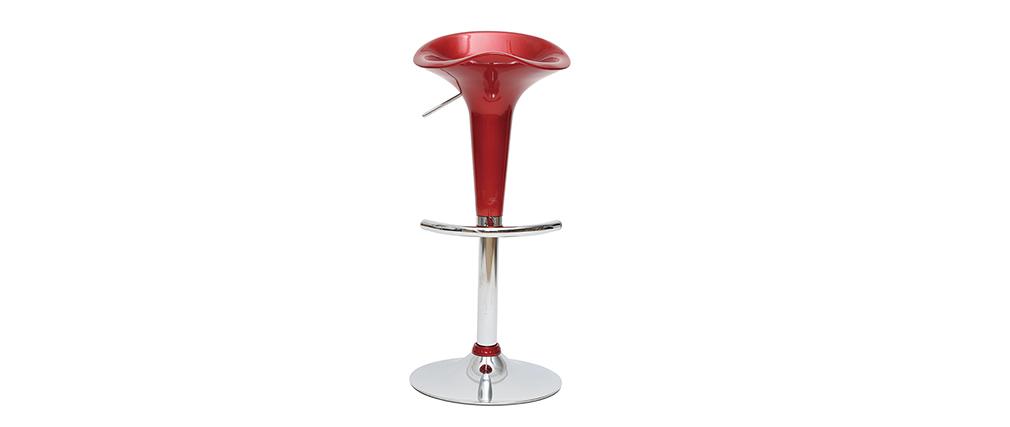 Tabourets de bar design lie de vin GALAXY (lot de 2)