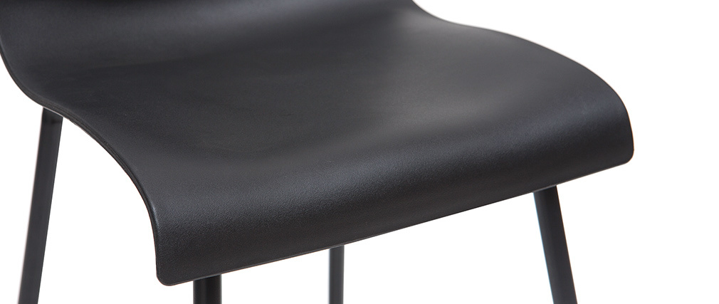 Tabourets de bar design noir 65 cm (lot de 2) ONA