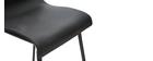 Tabourets de bar design noir 76 cm (lot de 2) ONA