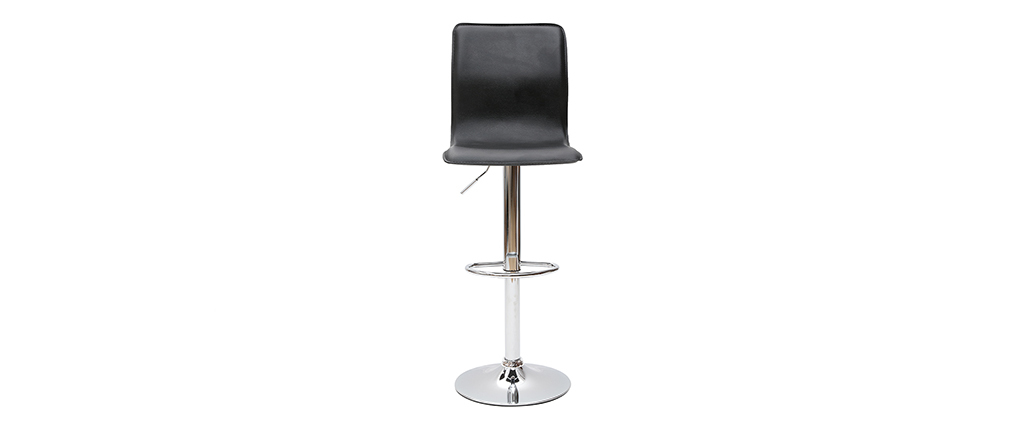 Tabourets de bar design noirs (lot de 2) SURF ALTO
