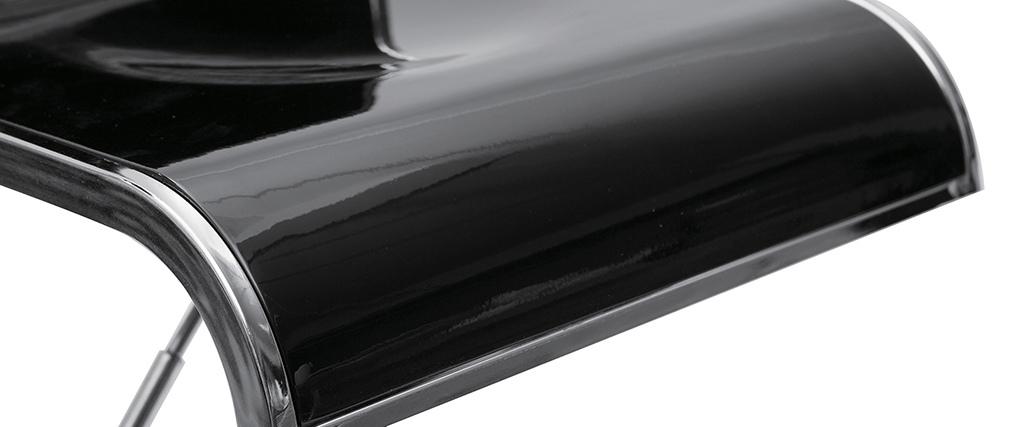 Tabourets de bar design noirs WAVES (lot de 2)