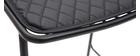 Tabourets de bar empilables en métal noir avec coussin 75 cm (lot de 2) FEELING