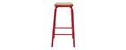 Tabourets de bar empilables rouge H65 cm (lot de 2) MEMPHIS