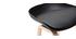 Tabourets de bar noir et pieds bois 65 cm (lot de 2) LINO