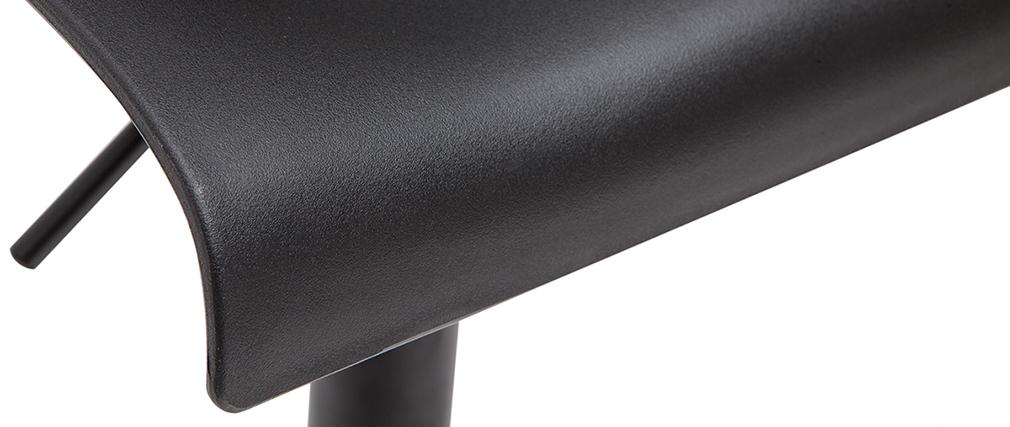 Tabourets de bar réglables design en métal noir (lot de 2) ONA