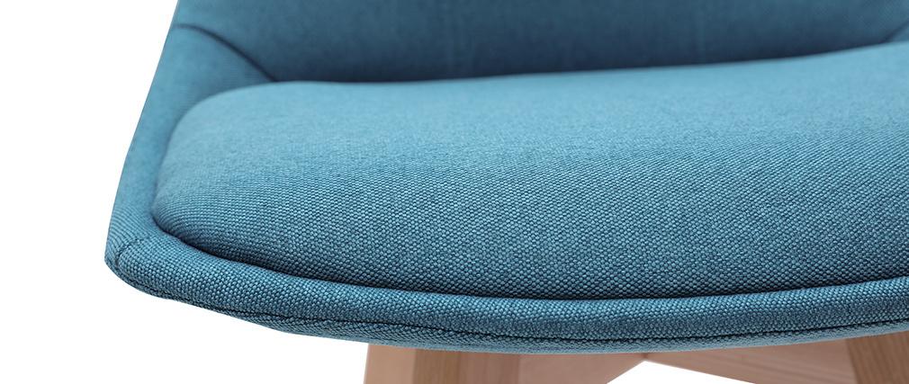 Tabourets de bar scandinaves bleu canard 65 cm (lot de 2) MATILDE - Miliboo & Stéphane Plaza