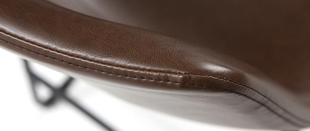 Tabourets de bar vintage marron 61 cm (lot de 2) NEW ROCK