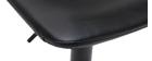 Tabourets de bar vintage réglables pivotants noirs (lot de 2) NEW ROCK