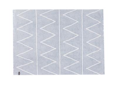 Tapis coton 120x160cm bleu ALISHIA
