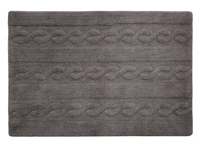 Tapis coton 120x160cm gris anthracite INES
