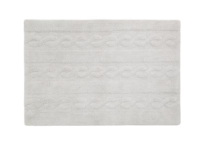 Tapis coton 120x160cm gris perle INES