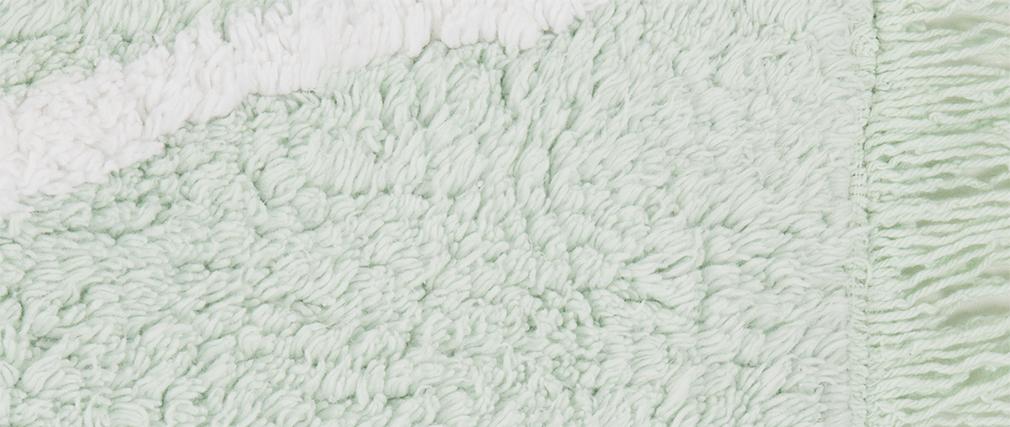 Tapis coton 120x160cm menthe ALISHIA