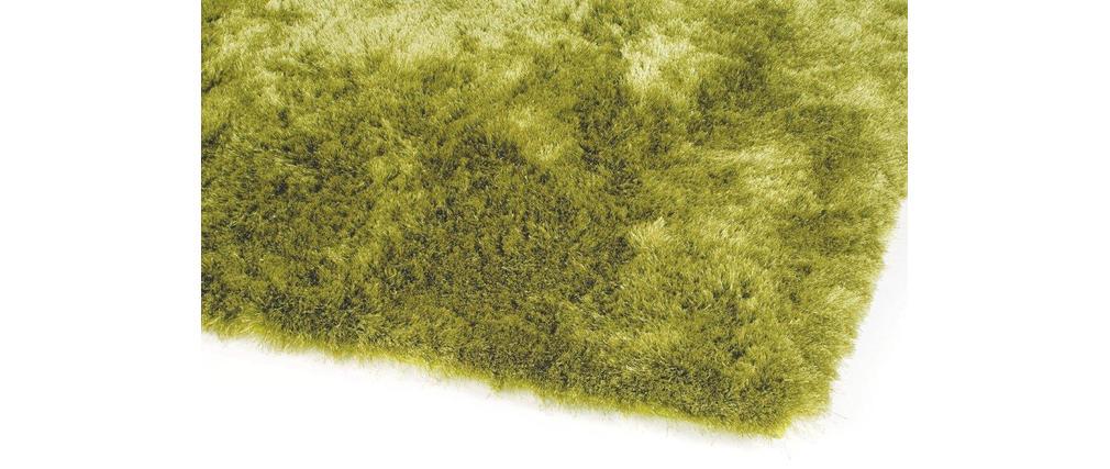 tapis shaggy design tissu vert anis 200x300 whisper miliboo. Black Bedroom Furniture Sets. Home Design Ideas