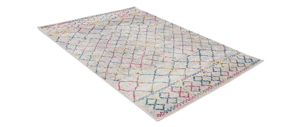 Tapis style berbère gris et multicolore 160 x 230 cm CIELO