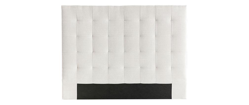 Tête de lit capitonnée en tissu beige 140 cm HALCIONA