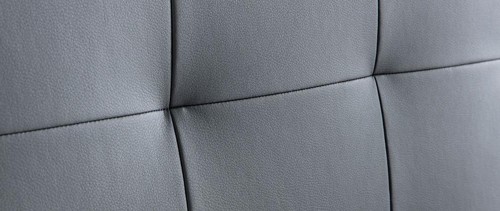 Tête de lit capitonnée gris foncé 160 cm HALCIONA