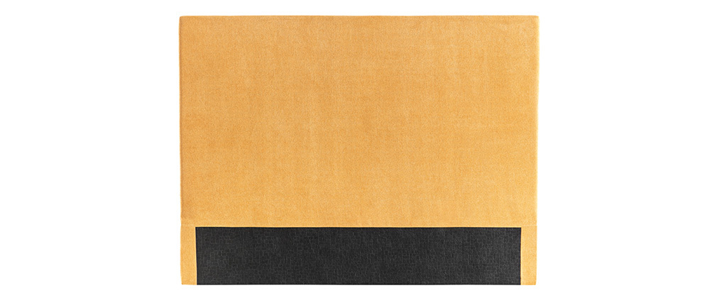 Tête de lit en tissu uni jaune moutarde 140 cm ZORYA