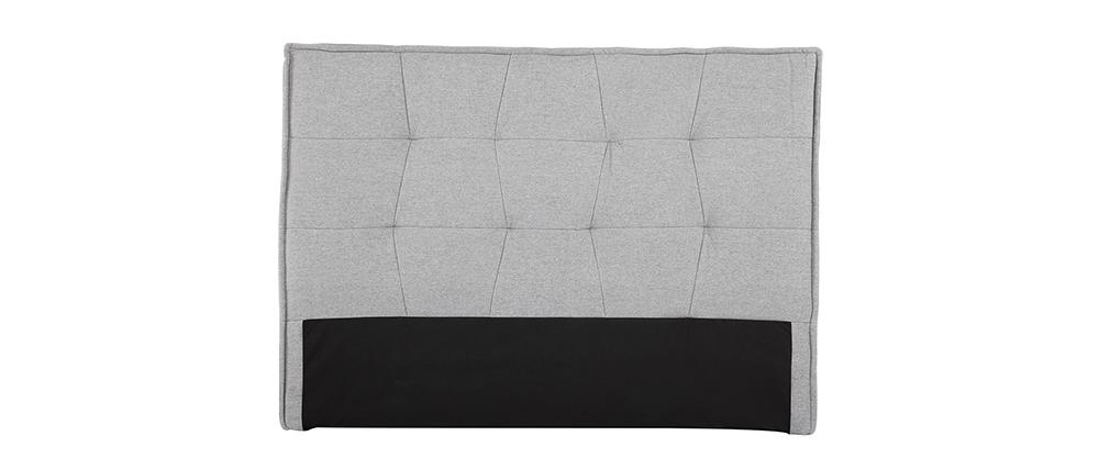 Tête de lit tissu gris clair 150 cm SUKA