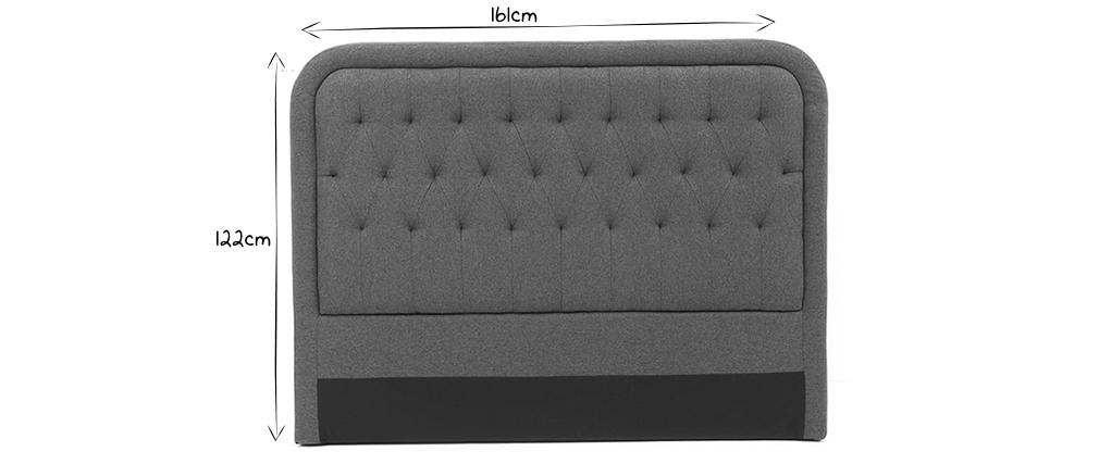 Tête de lit tissu gris foncé 160 cm LOUIS